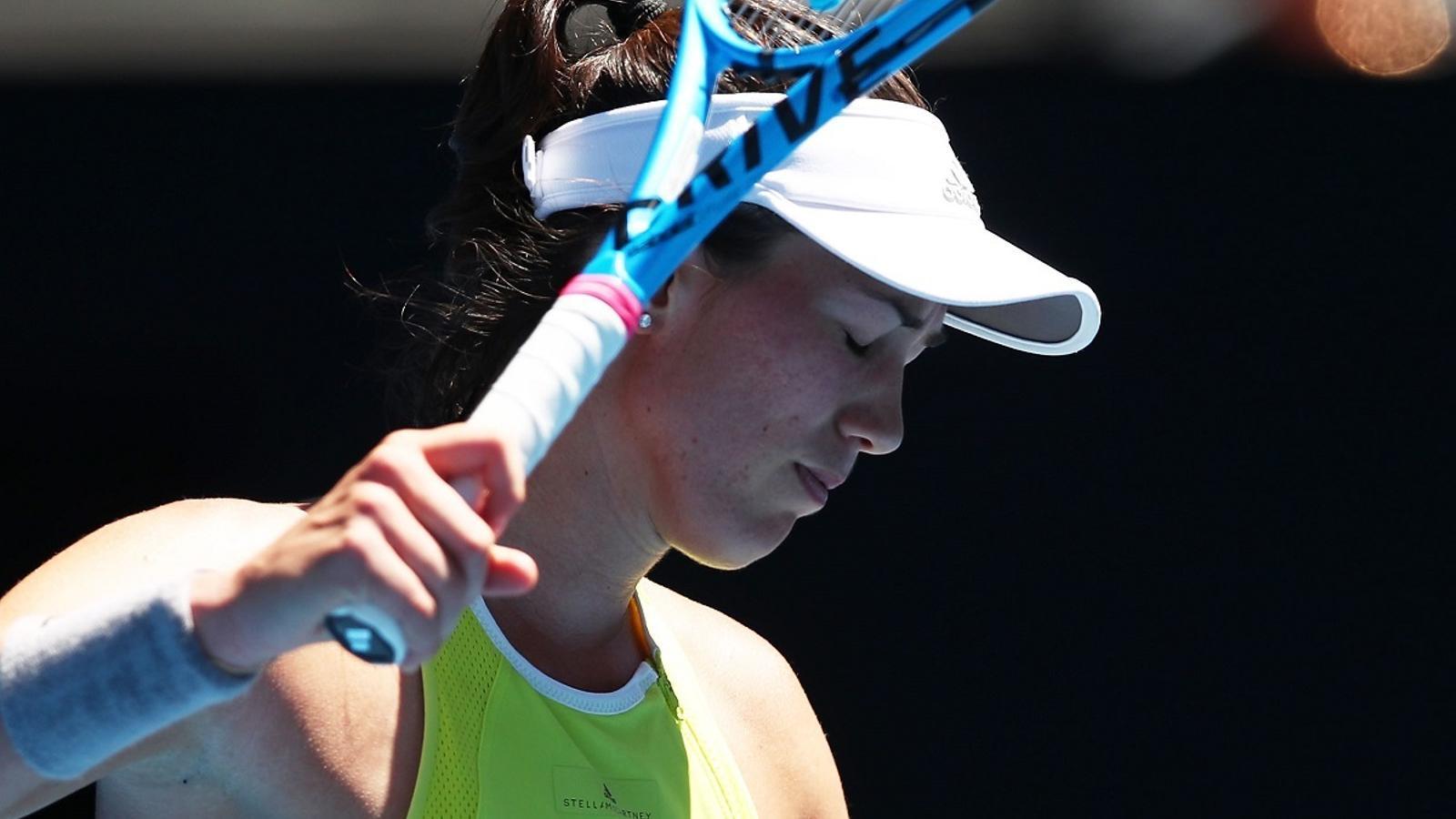 Garbiñe Muguruza, durant l'Open d'Austràlia