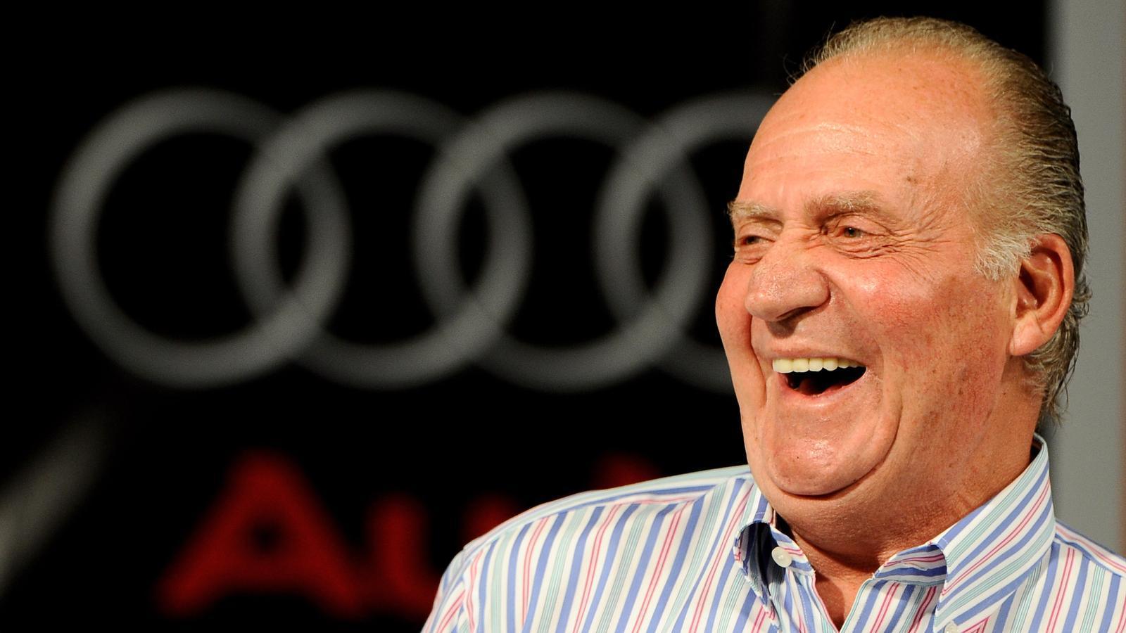 Joan Carles I, molt somrient l'any 2009 en un acte a Palma de Mallorca