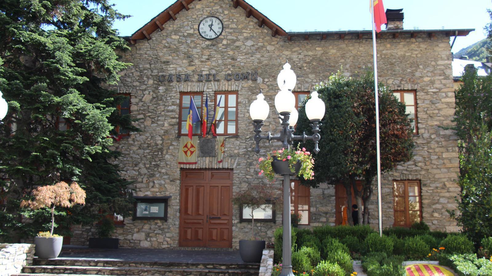 La façana de l'antiga casa comuna de Sant Julià de Lòria, on se celebren les sessions de consell de comú. / ANA