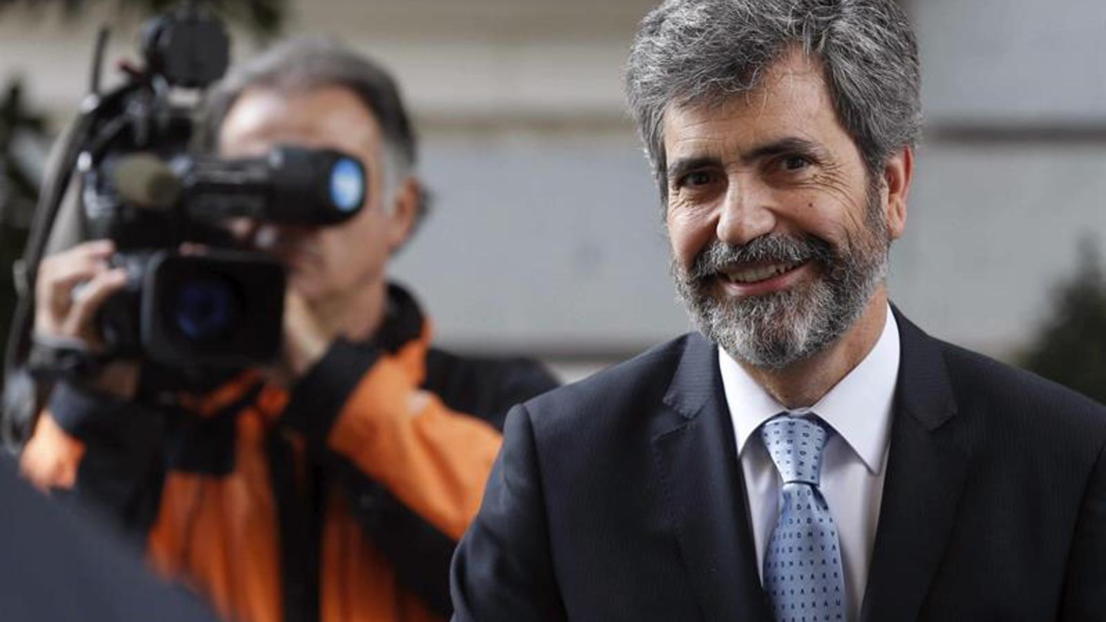 El president del CGPJ, Carlos Lesmes, en una imatge d'arxiu. EFE