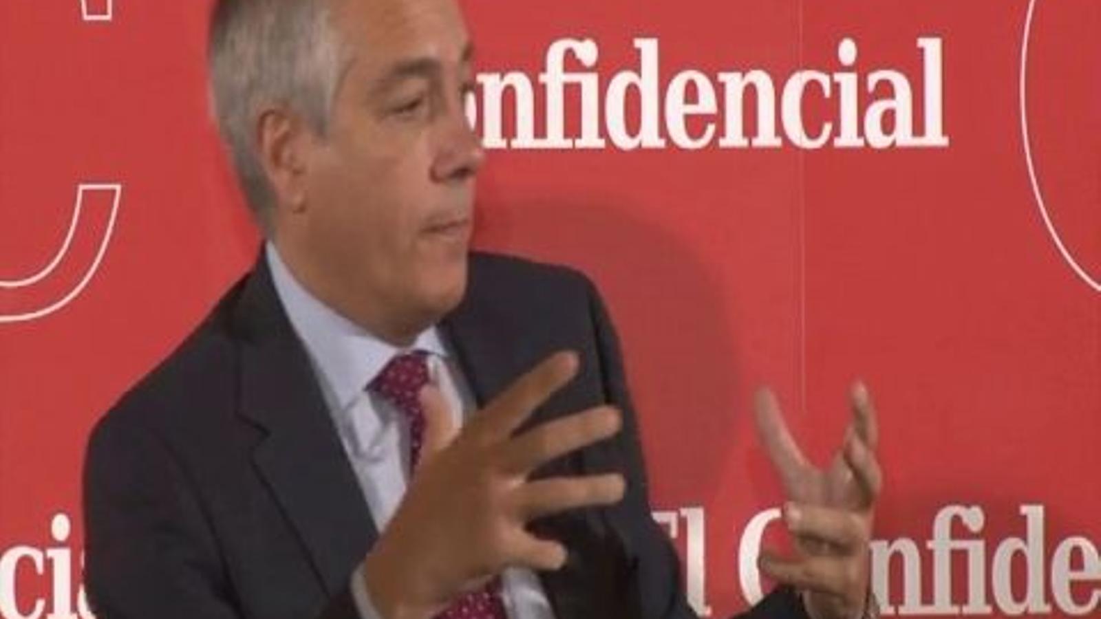 Fragment de la conferència de Pere Navarro a Madrid: Que els independentistes no enganyin la gent