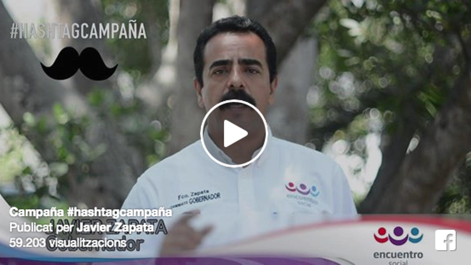 Vídeo al Facebook de Javier Zapata, en què diu que l'etiqueta #hashtagcampanya no va ser un error