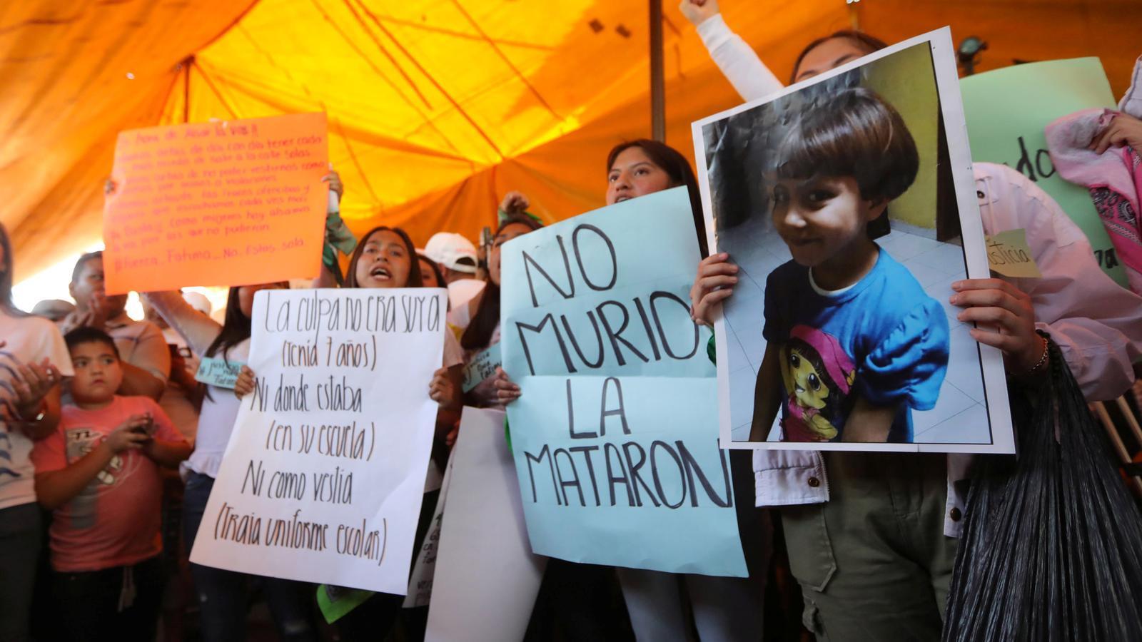 Protesta per l'assassinat de la nena Fátima Aldrighetti, desapareguda i trobada morta el cap de setmana a Ciutat de Mèxic