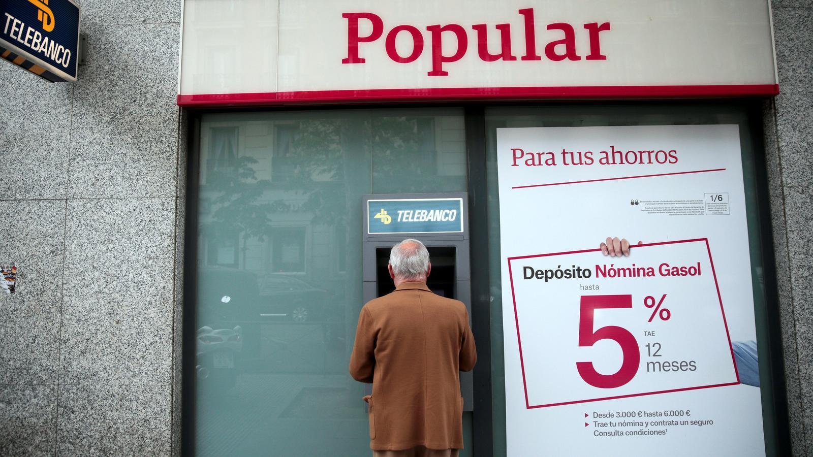 El Banco Popular va manipular els seus comptes del 2016