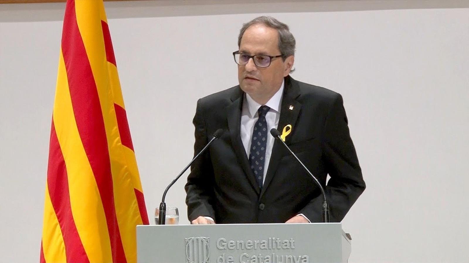 Declaració institucional del president de la Generalitat, Quim Torra