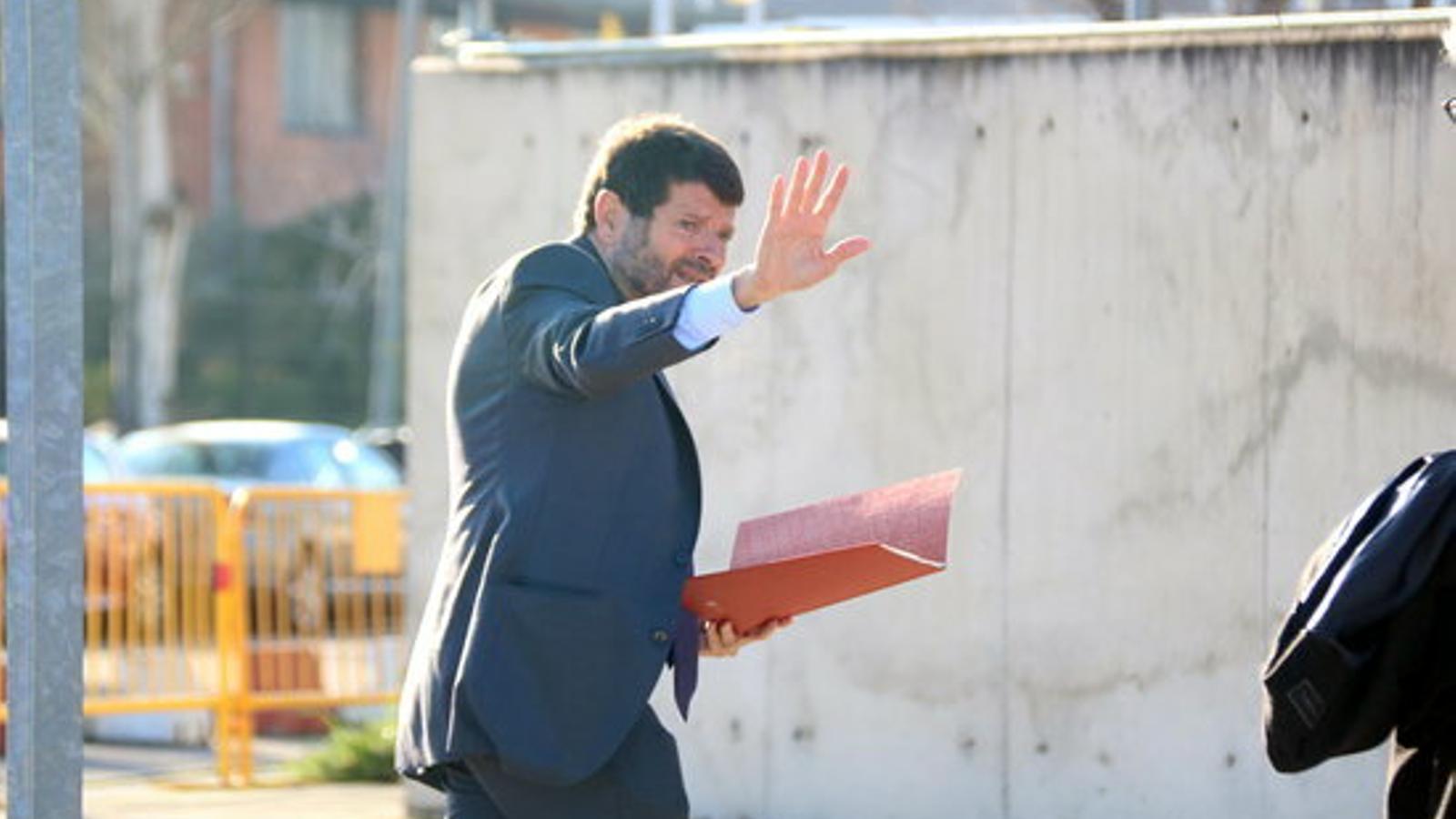 L'exdirector general dels Mossos d'Esquadra Albert Batlle, entrant a l'Audiència Nacional