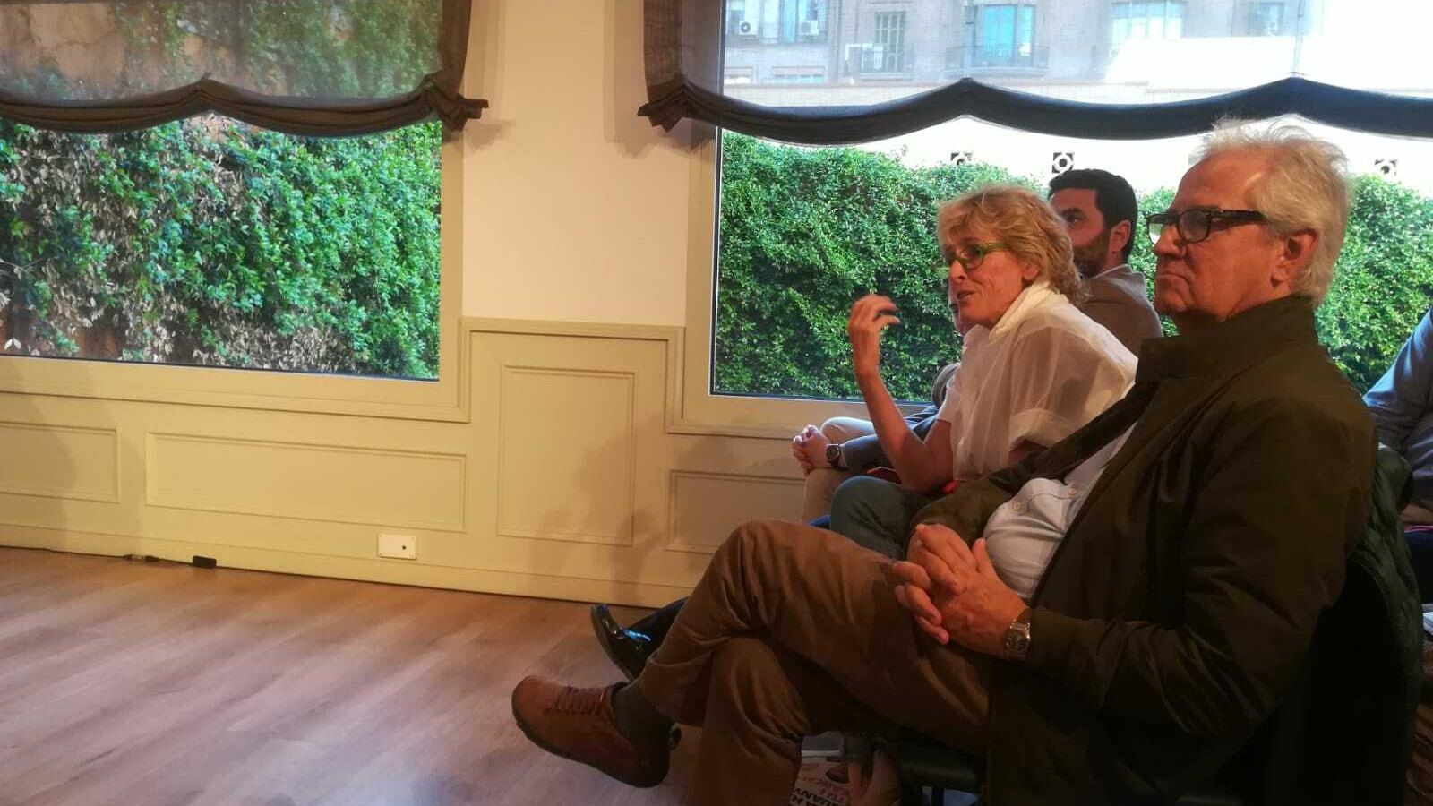 Mercedes Milá a l'acte de Manuel Valls, aquesta tarda