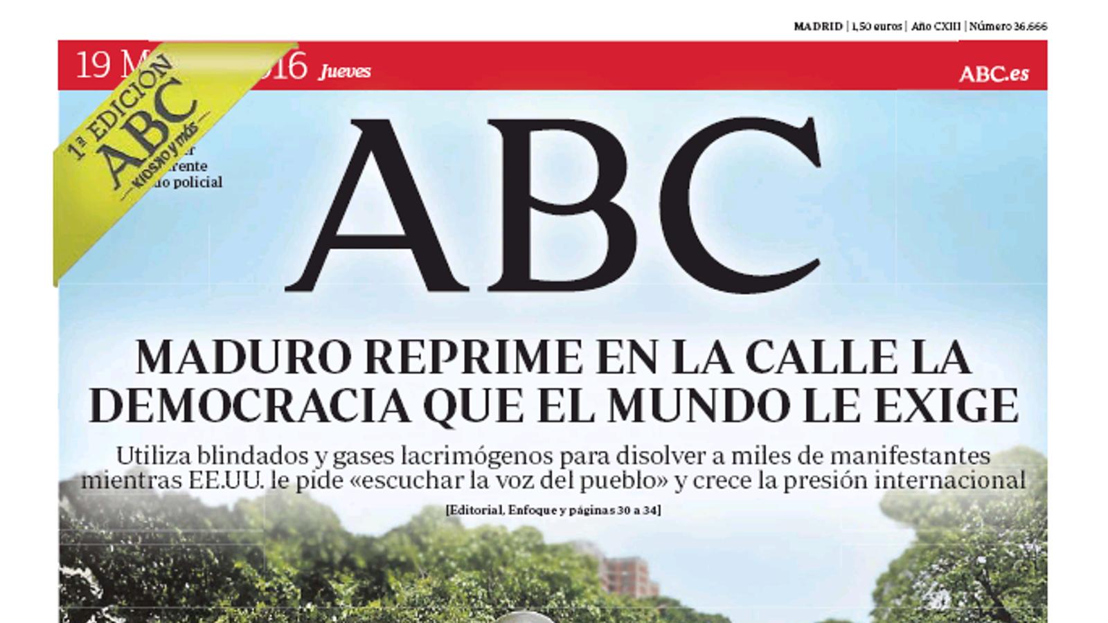 """""""L'independentisme anima Otegi i margina les víctimes"""", a la portada d''El Mundo'"""