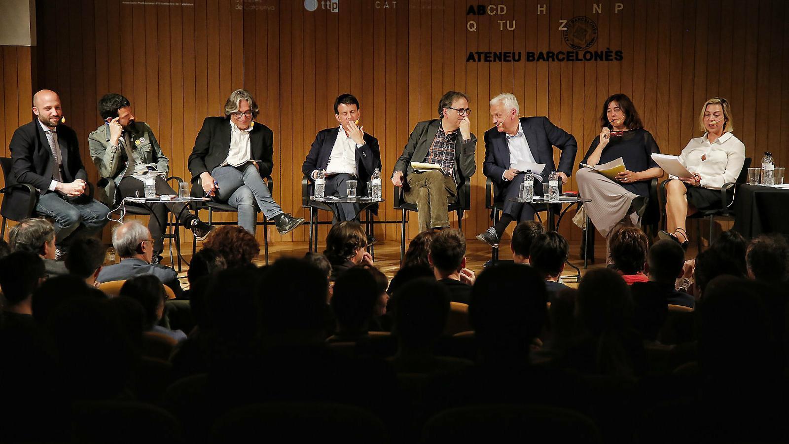 L'Ateneu Barcelonès va acollir ahir l'únic debat sobre cultura de la campanya, amb presència de vuit candidats.