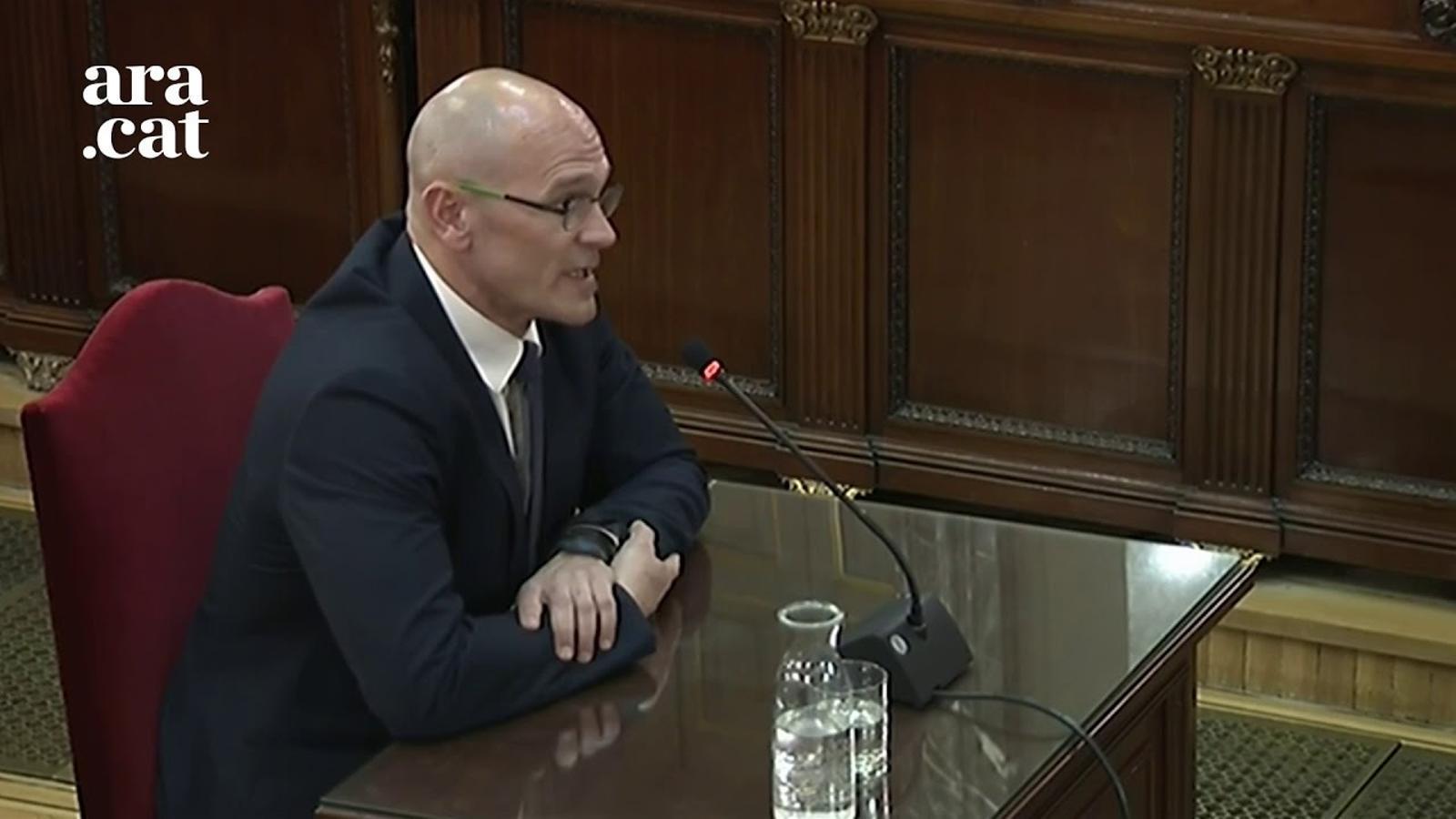 """""""Me considero un preso político"""" y """"La autodeterminación es legal"""": Romeva calca el interrogatorio de Junqueras"""
