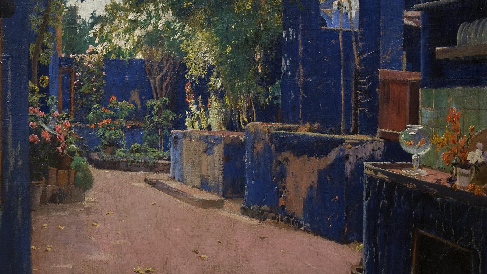 'Pati blau Any' (1913), Santiago Rusiñol. © Museu Nacional d'Art de Catalunya, Barcelona, 2019.