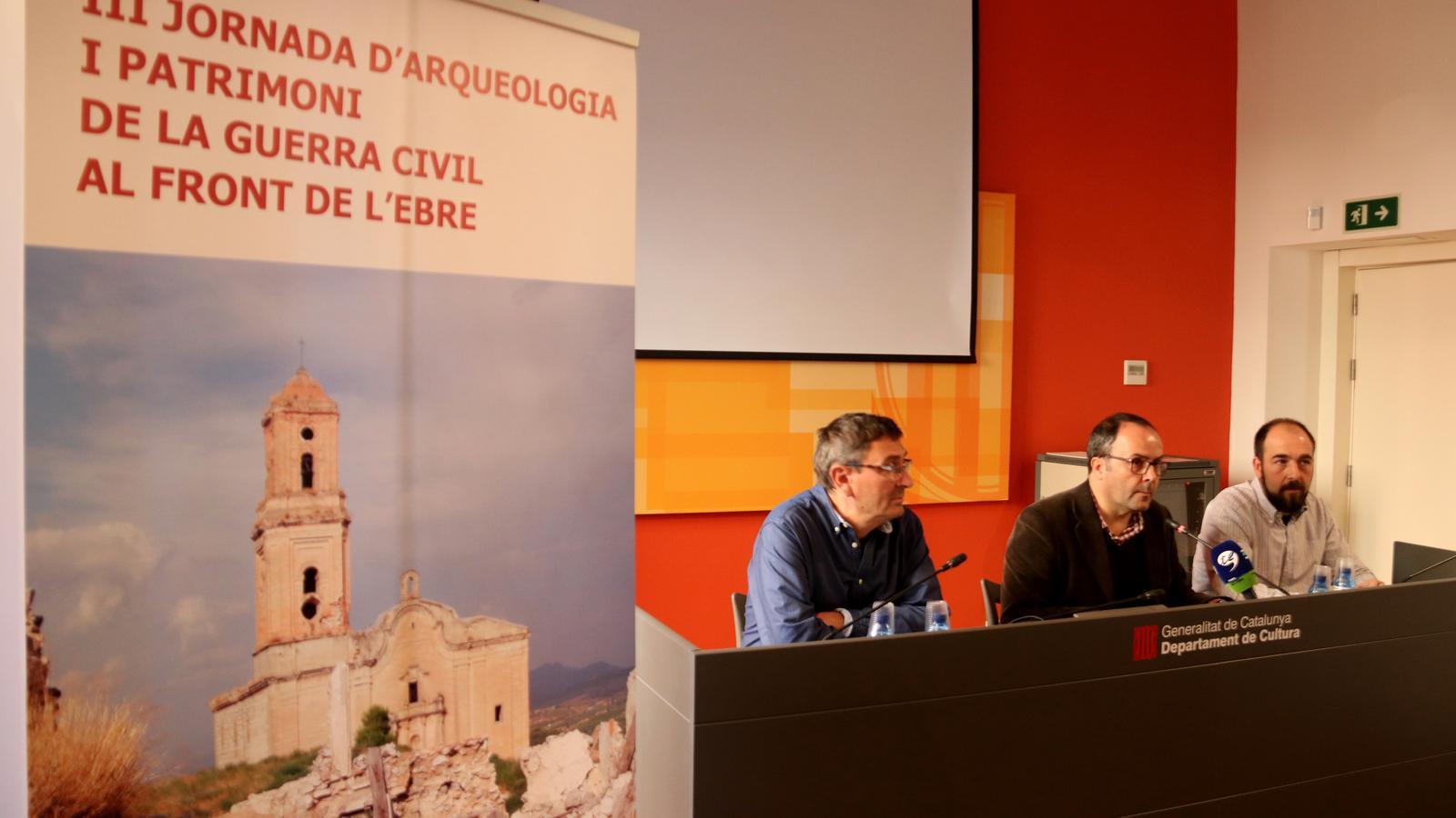Presentació de la III Jornada d'Arqueologia i Patrimoni de la Guerra Civil al Front de l'Ebre