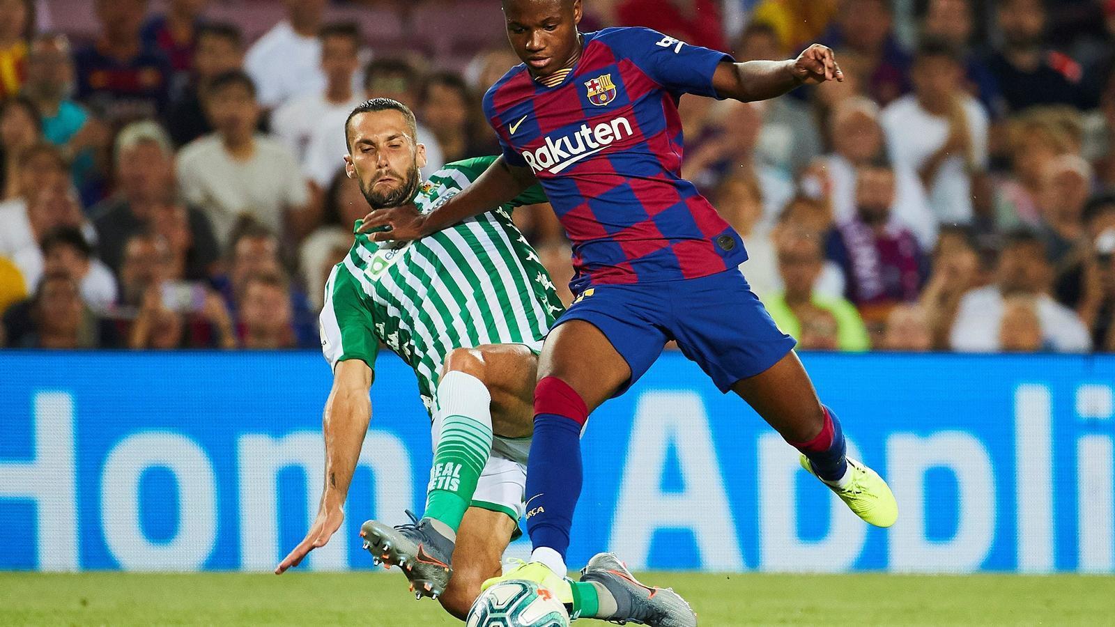 Ansu Fati debuta amb el Barça contra el Betis