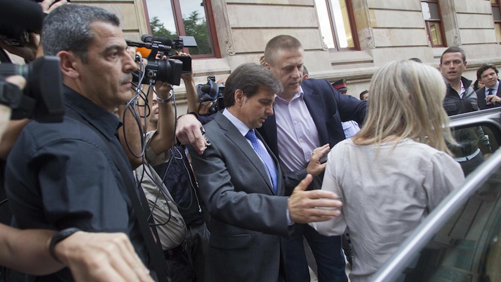 Corominas sortint avui del jutjat / JORDI PIZARRO