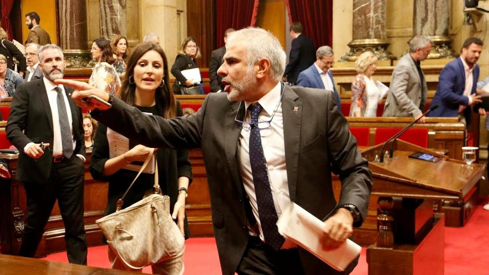 Tensió al Parlament arran de l'empresonament dels set CDR