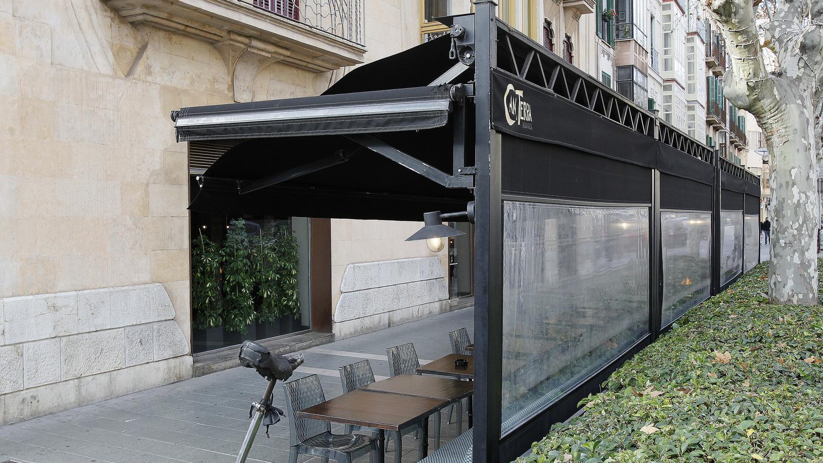 Un bar de Palma tancat per les restriccions