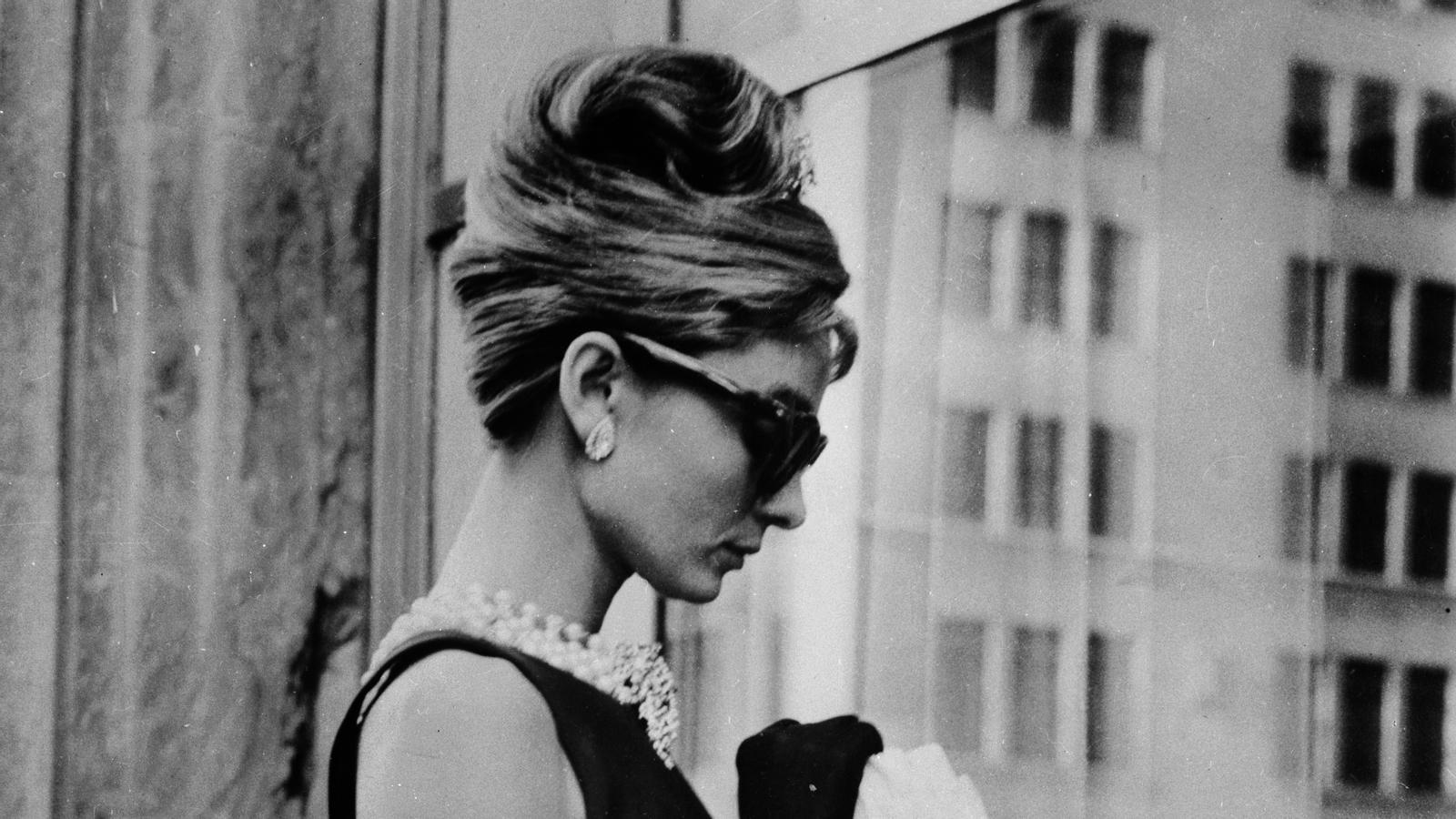 L'actriu, a la pel·lícula 'Esmorzar amb diamants'