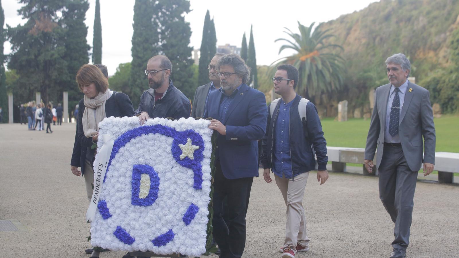 La delegació de Demòcrates a l'acte d'homenatge a Lluís Companys