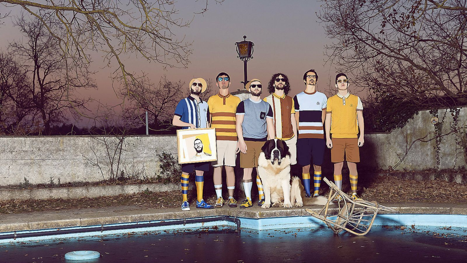 Els Oques Grasses en una fotografia promocional del disc Fans del sol.