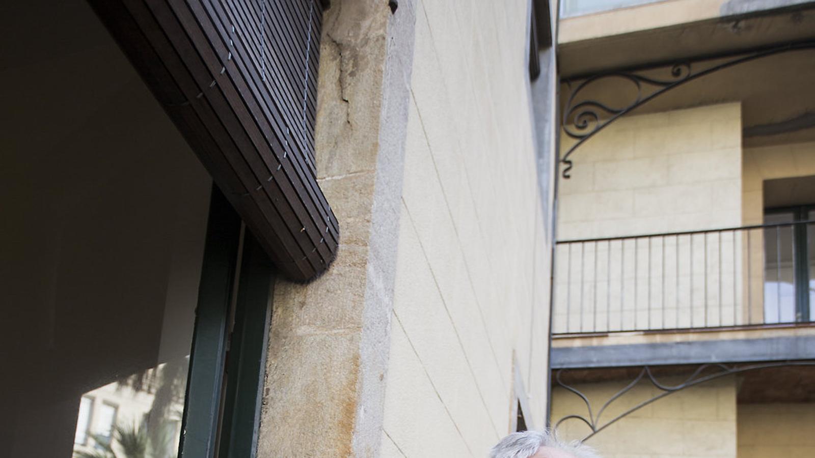Ivo Vagjl fotografiat a Barcelona en una visita recent que l'eurodiputat eslovè va fer a Catalunya. / MANOLO GARCIA