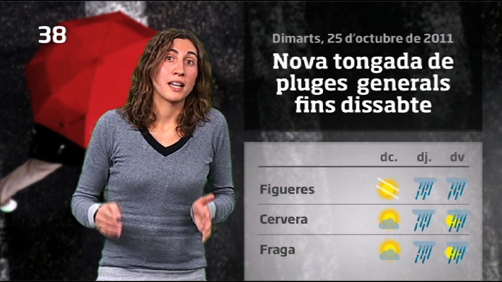La Méteo en 1 minut: Dimecres assolellat a l'espera d'una nova tongada de ruixats a partir de dijous (26/10/2011)