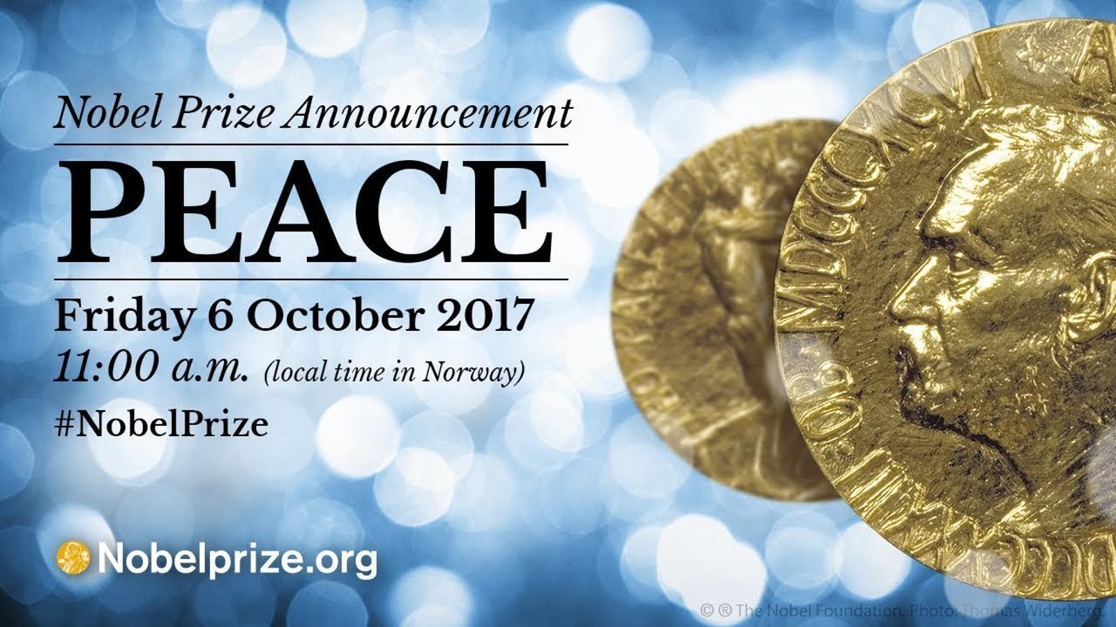 Anunci del Premi Nobel de la Pau, aquest divendres al matí a Noruega