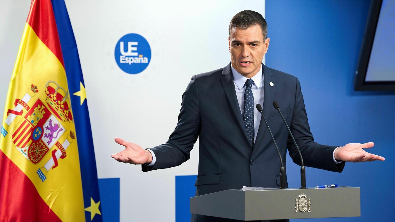 El president del govern espanyol en funcions, Pedro Sánchez, divendres a Brussel·les