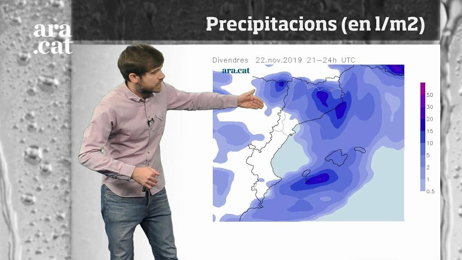 Méteo especial: inici del cap de setmana amb pluges i ventades fortes