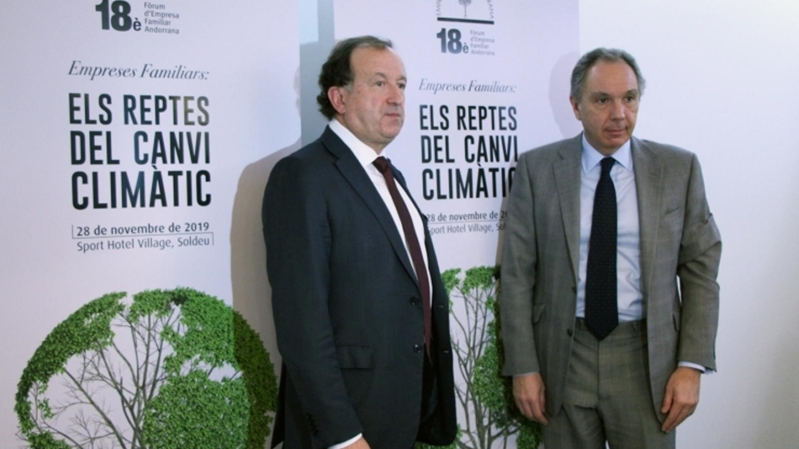 El secretari general i el president de l'EFA, Joan Tomàs i Francesc Mora, en una imatge d'arxiu. / M.P.