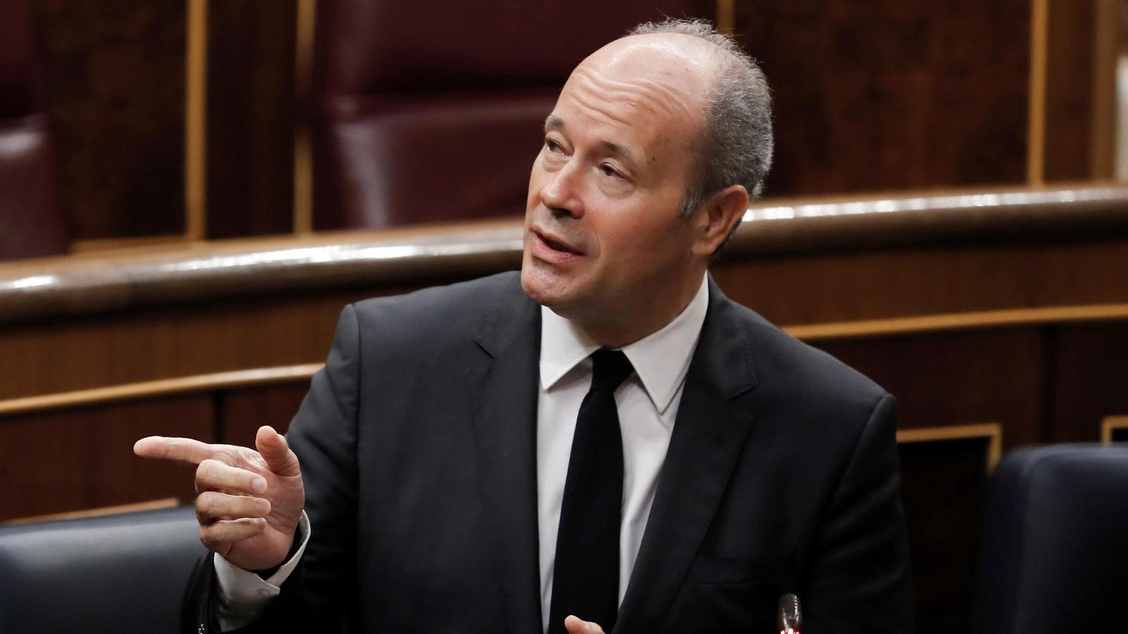 El ministre de Justícia, Juan Carlos Campo, durant la sessió de control al govern espanyol.