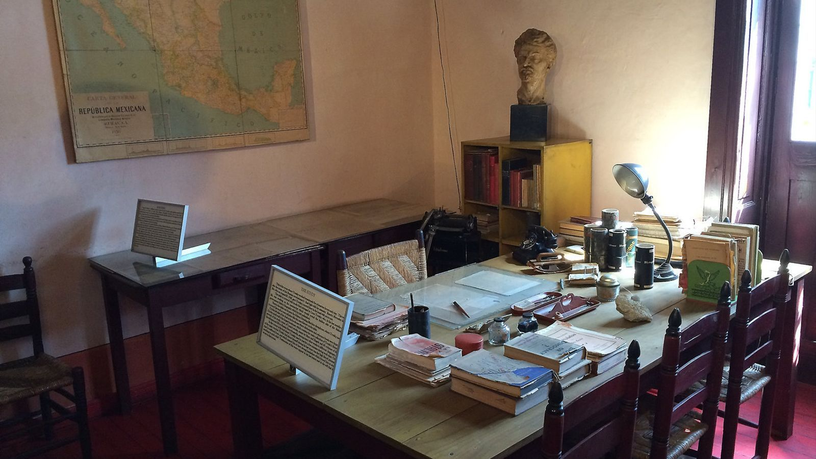 El despatx de Trotski on va rebre el famós cop de piolet que li va costar la vida.