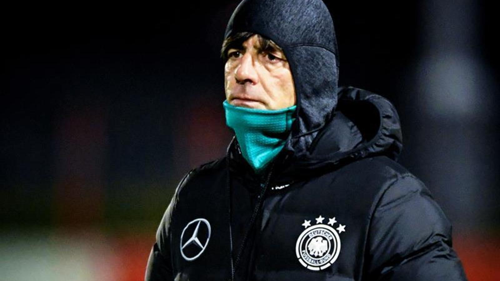 Joachim Löw, durant un entrenament amb la selecció alemanya