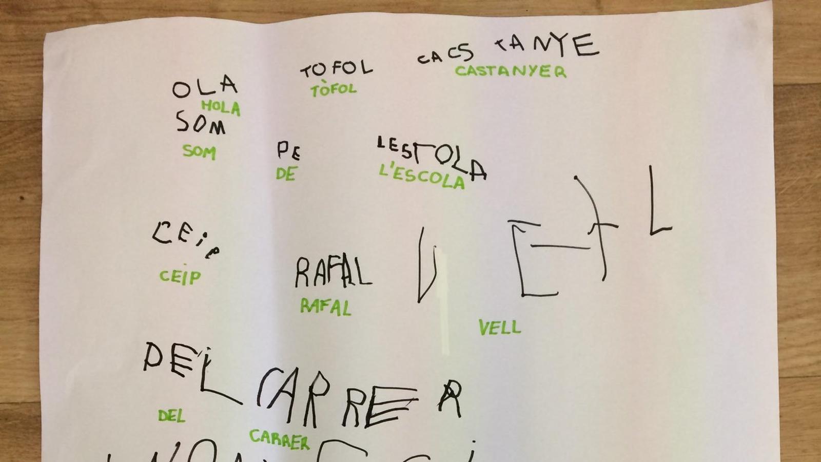 Cartell dels nins de quatre anys del CEIP Rafal Vell