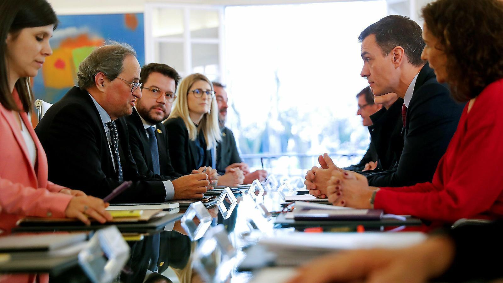 La Generalitat i la Moncloa consoliden la taula de negociació
