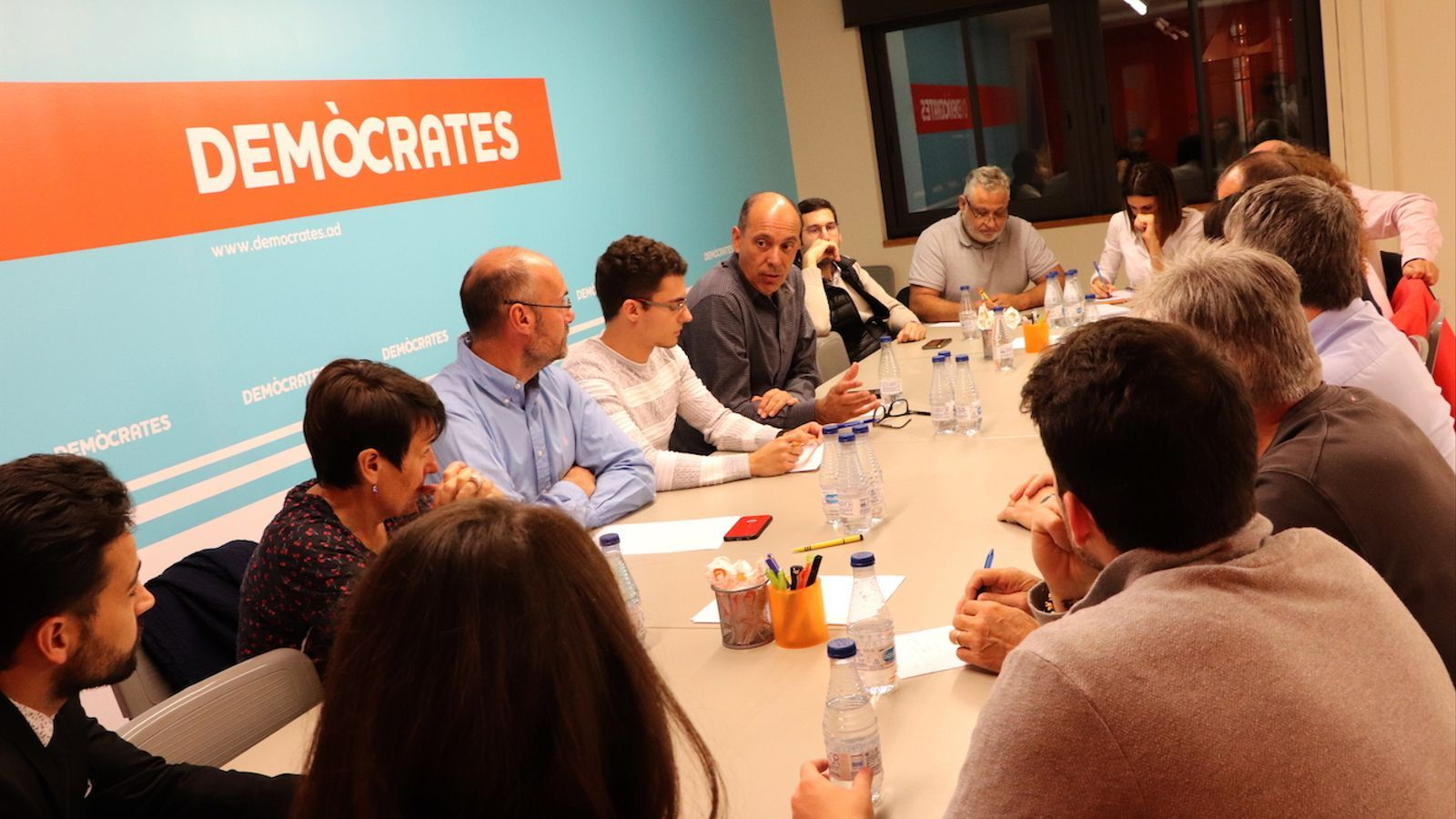Un moment de la reunió del comitè executiu de Demòcrates aquest dimecres. / DEMÒCRATES