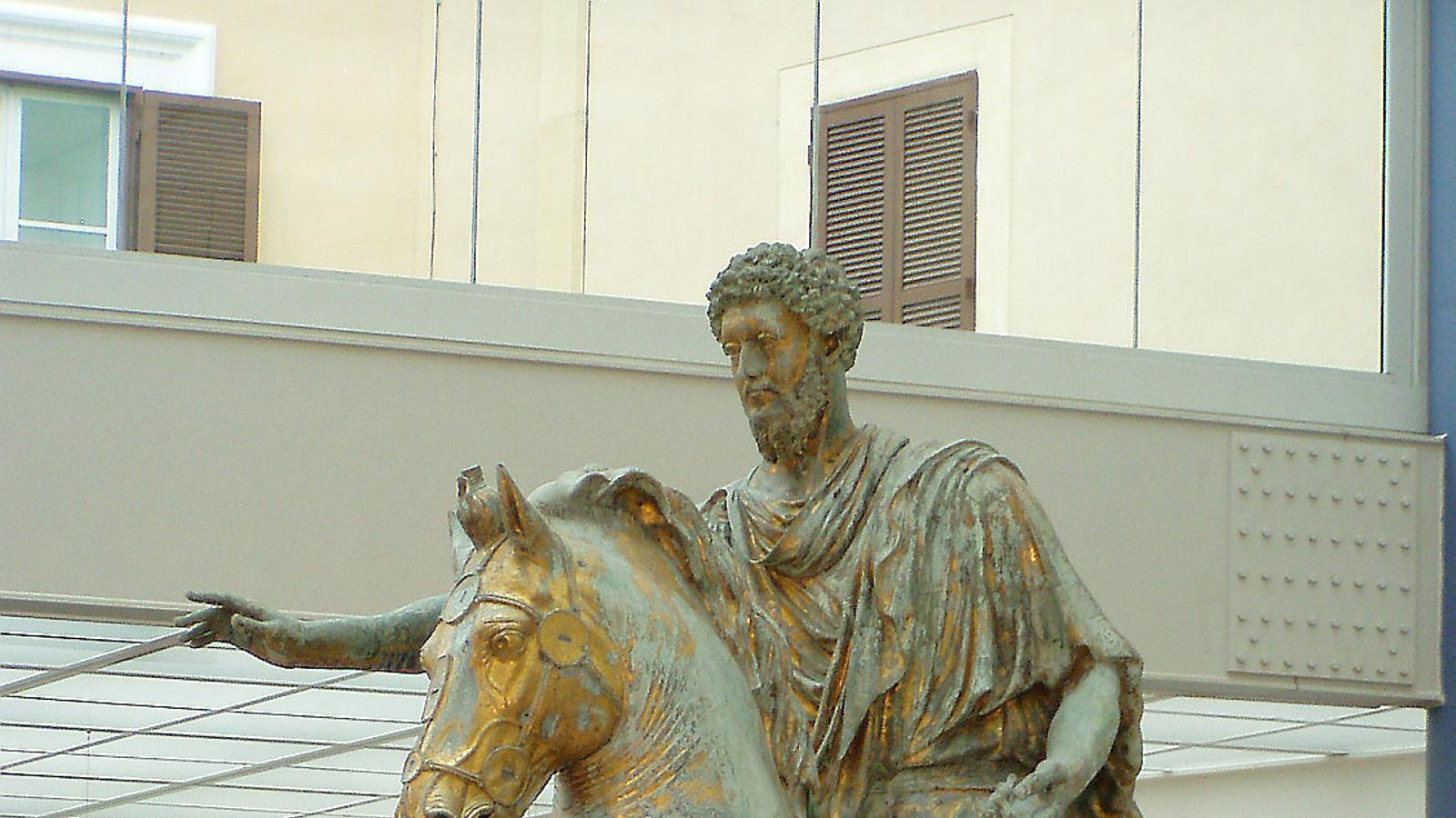 L'estàtua eqüestre de Marc Aureli, del segle II, que ara es conserva als Museus Capitolins de Roma. / WIKIPEDIA