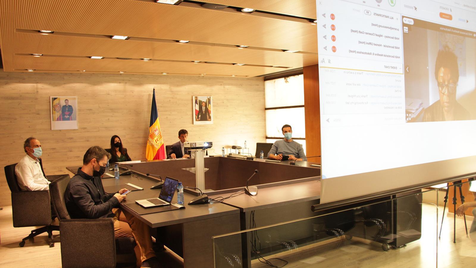 Les autoritats d'Ordino, durant la sessió en què s'ha fet pública la designació. / COMÚ D'ORDINO