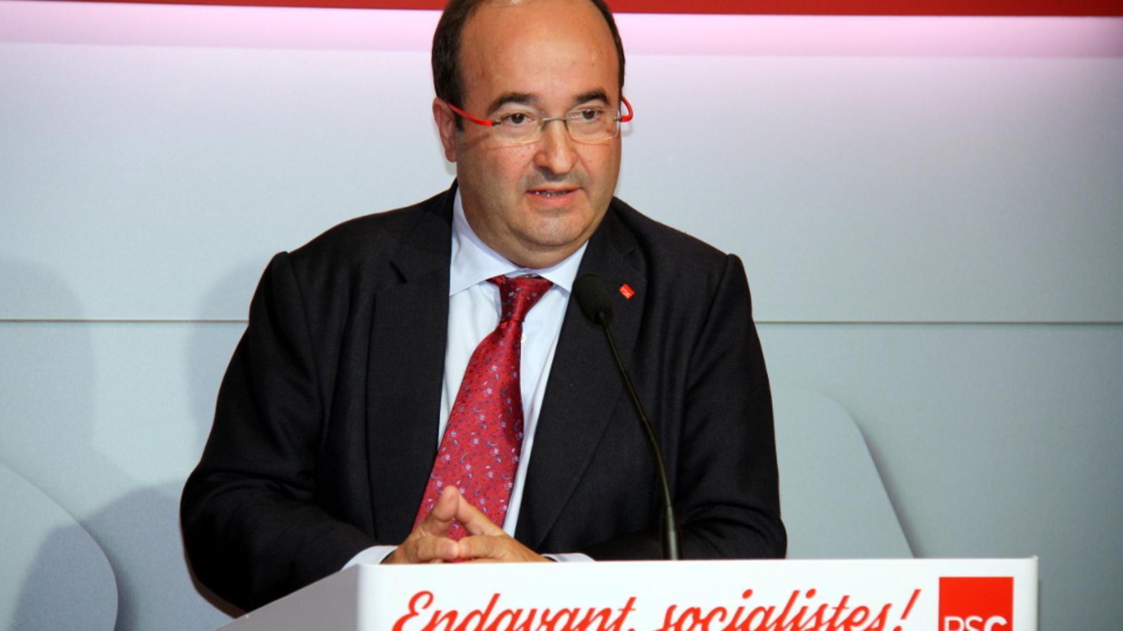El primer secretari del PSC, Miquel Iceta, en roda de premsa / ACN
