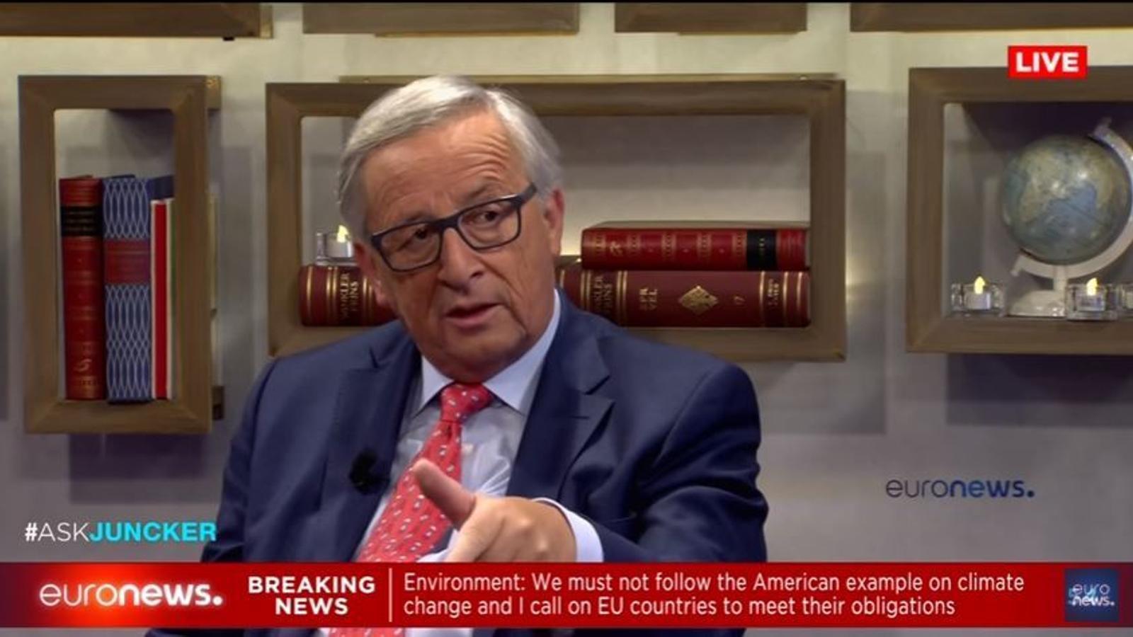 L'entrevista de Jean Claude Juncker a Euronews