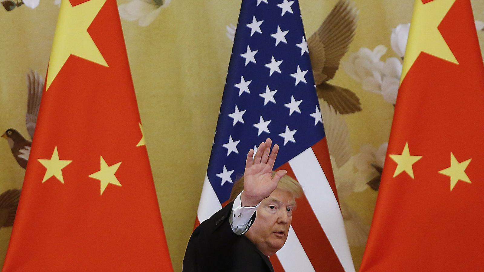 Donald Trump, president dels Estats Units, durant una visita a la Xina el novembre del 2017.