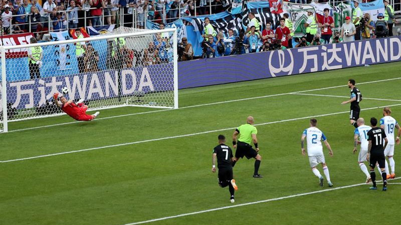 El penal de Messi, aturat pel porter d'Islàndia