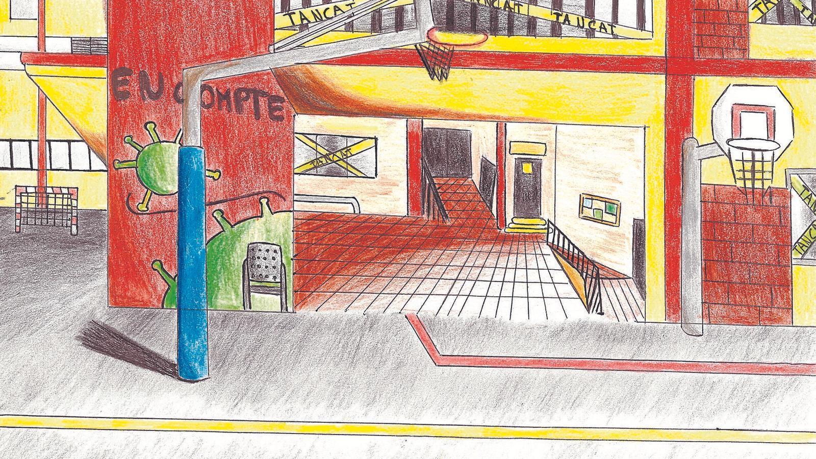 Dibujo de Martina Serra, del Centre Prats de la Carrera