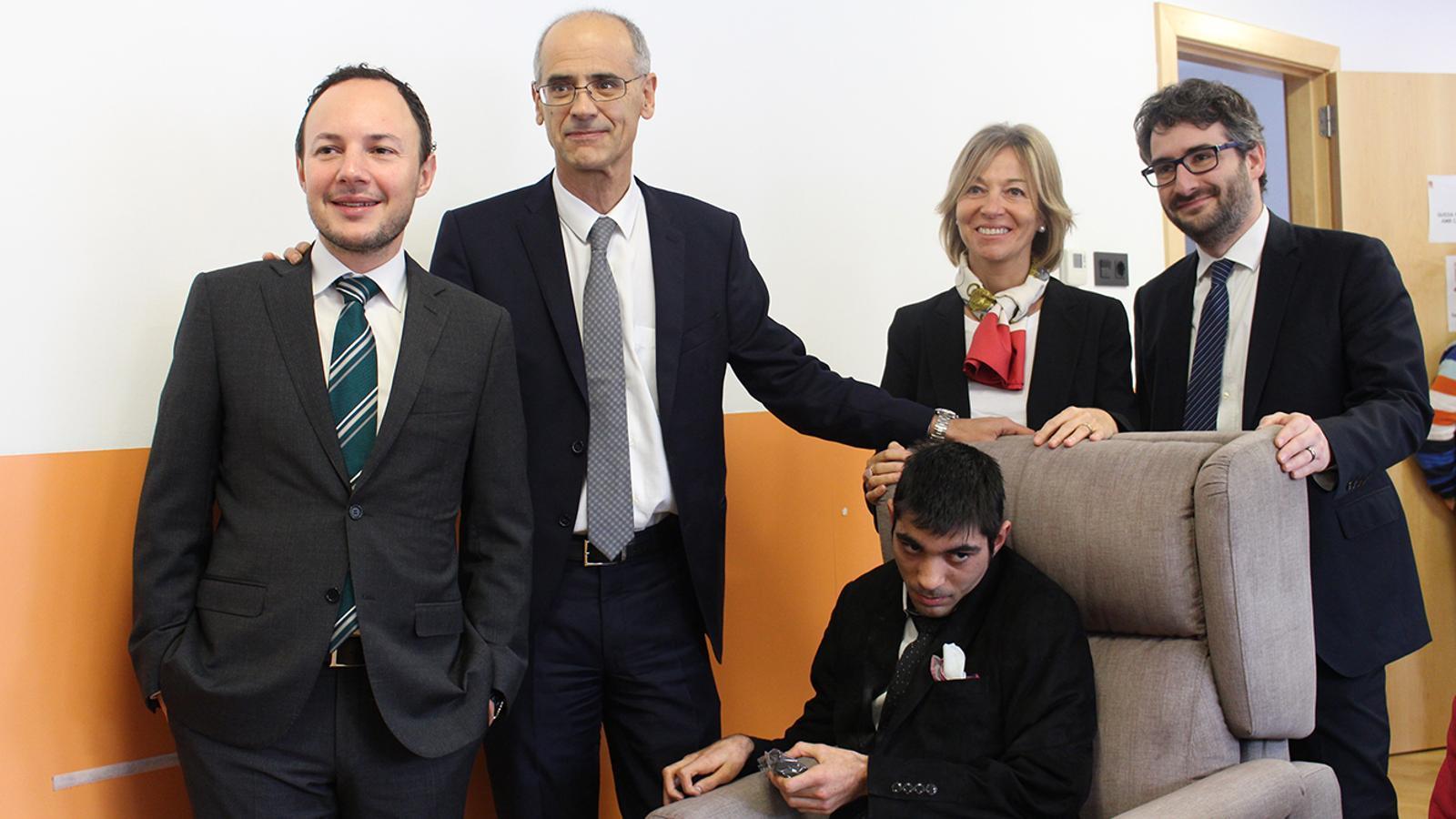 Visita prèvia a les festes de Nadal del cap de Govern, Toni Martí, a l'EENSM. / EENSM