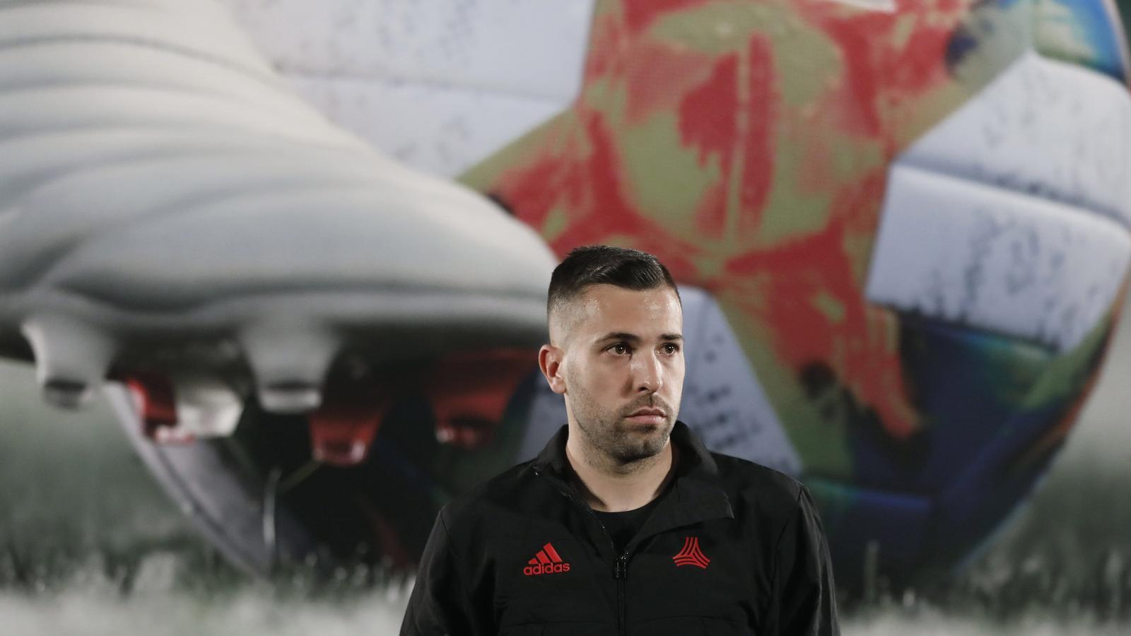 Jordi Alba, en un acte promocional de la marca Adidas