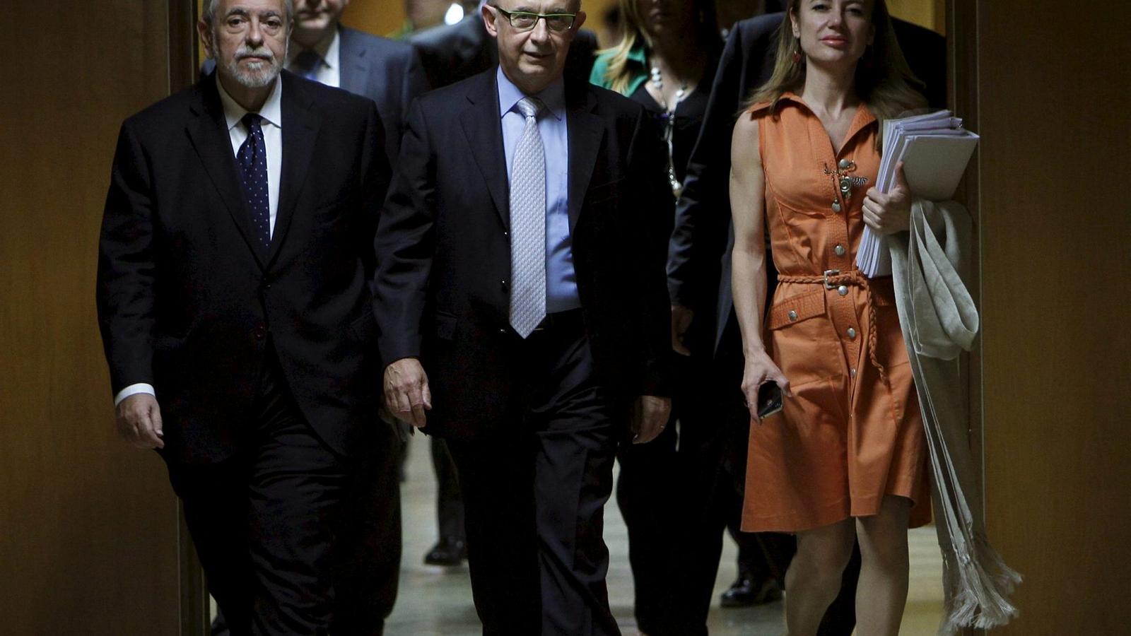 MADRID VOL MARCAR EL PAS  L'equip d'Hisenda, presidit per Montoro, es mostra inflexible amb les demandes de Catalunya, com es va veure al Consell de Política Fiscal i Financera.