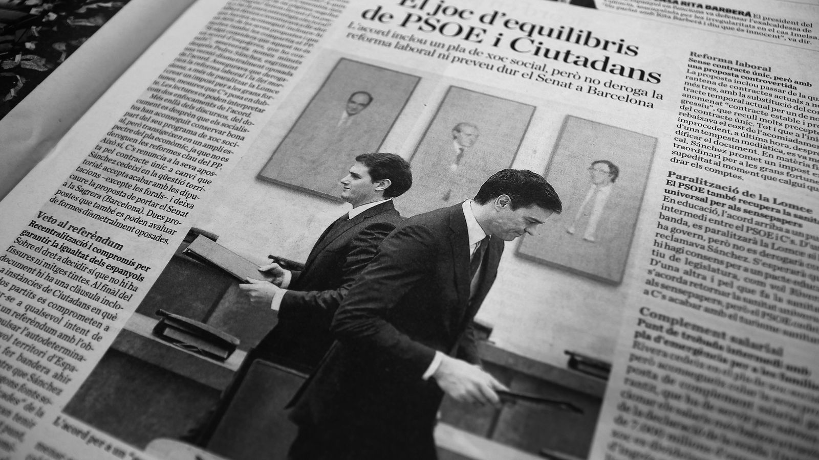 L'editorial d'Antoni Bassas: PSOE i Ciutadans: Oposar-se a tot intent de referèndum