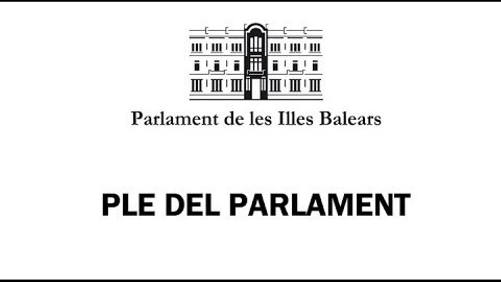 El debat de política general al Parlament de les Illes Balears