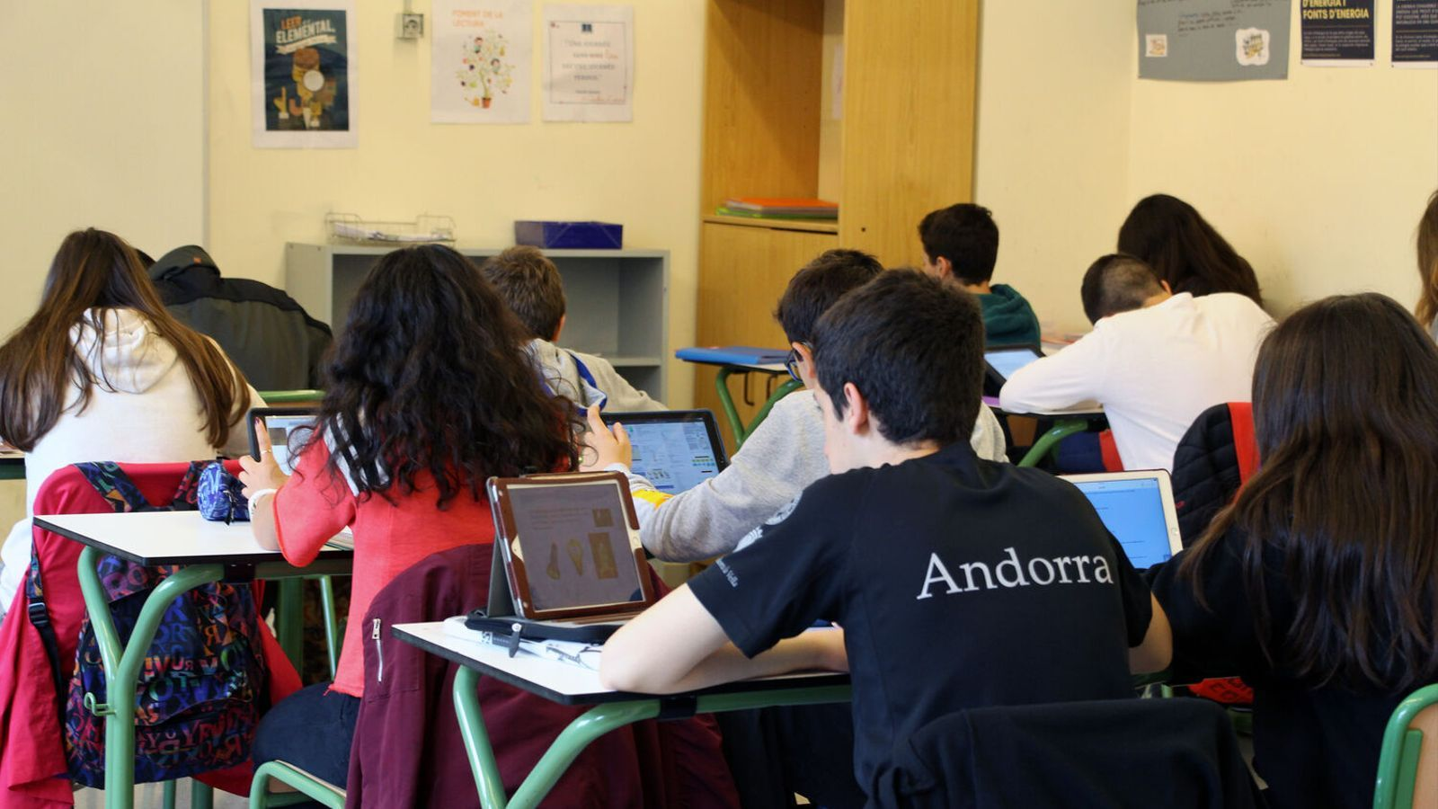 Una aula de l'escola andorrana en una imatge d'arxiu