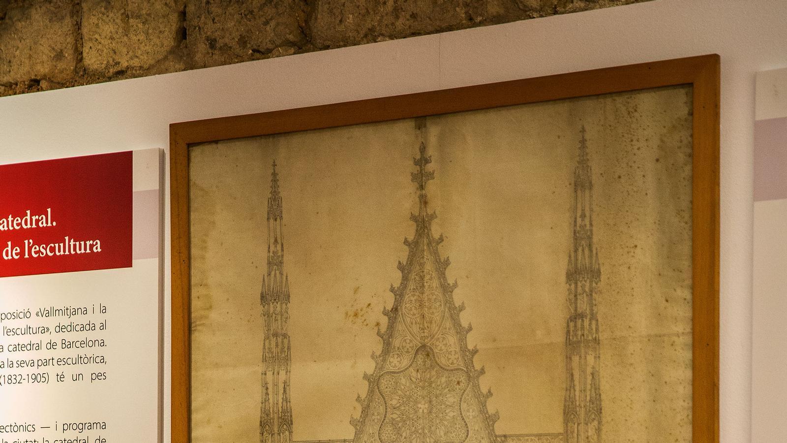 Un projecte de la gran portala de la catedral de Barcelona inclòs dins la mostra