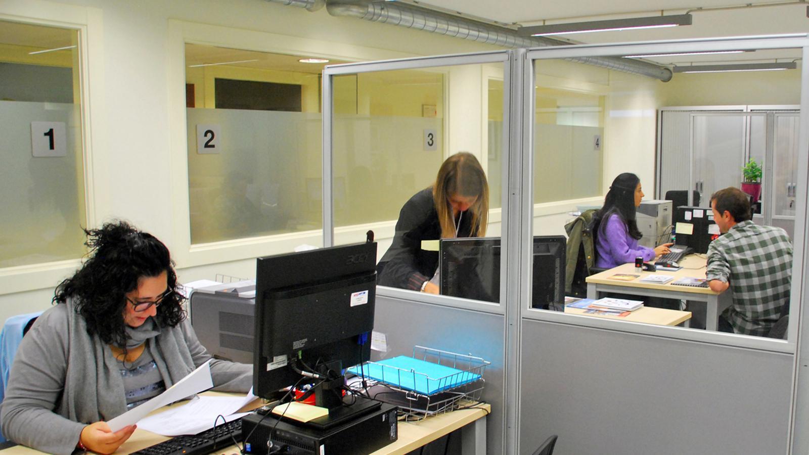 L'oficina del Servei d'Ocupació. / C. G. (ANA)